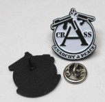 CRASS ANARCHY & PEACE PIN