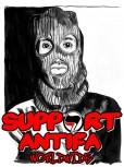 SUPPORT ANTIFA WORLDWIDE AUFKLEBER (10 STÜCK)