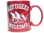 REFUGEES WELCOME RED KAFFEEBECHER