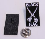 BLACK FLAG SCISSORS PIN