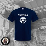 7 SECONDS LOGO T-SHIRT NAVY / 5XL
