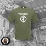 7 SECONDS LOGO T-SHIRT XXL / OLIVE