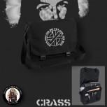 CRASS JESUS DIED FOR HIS OWN SINS MESSENGER BAG SCHWARZ