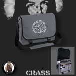 CRASS JESUS DIED FOR HIS OWN SINS MESSENGER BAG GRAU