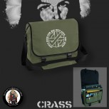 CRASS JESUS DIED FOR HIS OWN SINS MESSENGER BAG OLIVE