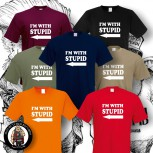 I AM WITH STUPID T-SHIRT