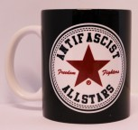 ANTIFASCIST ALLSTARS KAFFEEBECHER (RED)
