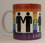 LOVE IS LOVE KAFFEEBECHER
