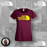 ANTI FASCIST ACTION GIRLIE RED