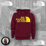 ANTI FASCIST ACTION HOOD RED