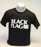 BLACK FLAG T-SHIRT LOGO WEISS