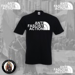 ANTI FASCIST ACTION T-SHIRT SCHWARZ (FLOCK)
