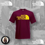 ANTI FASCIST ACTION T-SHIRT ROT (FLOCK)