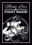 MAKE LOVE & FIGHT NAZIS STICKER (10 STÜCK)