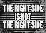 THE RIGHT SIDE IS NOT THE RIGHT SIDE STICKER (10 Stück)