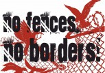 NO FENCES NO BORDERS STICKER (10 STÜCK)