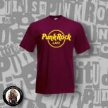 PUNK ROCK CAFÈ T-SHIRT WEINROT 3XL