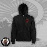 RED ACTION ANTIFA ZIPPER L