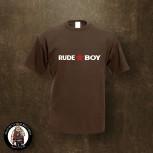 RUDE BOY REDSTAR T-SHIRT XXL / BRAUN