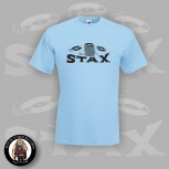 STAX LOGO BLUE T-SHIRT