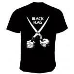 BLACK FLAG SCHERE T-SHIRT schwarz