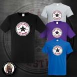 ANTIFASCIST ALLSTARS BLACK STAR T-SHIRT