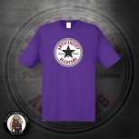 ANTIFASCIST ALLSTARS BLACK STAR T-SHIRT L / LILA