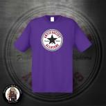 ANTIFASCIST ALLSTARS BLACK STAR T-SHIRT M / LILA