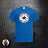ANTIFASCIST ALLSTARS BLACK STAR T-SHIRT M / KÖNIGSBLAU