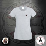 ANTIFASCIST ALLSTARS GIRLIE LOGO SMALL S / GRAU