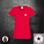 ANTIFASCIST ALLSTARS GIRLIE LOGO SMALL S / ROT