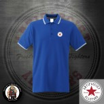 ANTIFASCIST ALLSTARS POLO XXL / ROYALBLUE