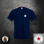 ANTIFASCIST ALLSTARS SMALL T-SHIRT XXL / NAVY / ROT