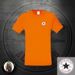 ANTIFASCIST ALLSTARS SMALL T-SHIRT XXL / ORANGE / SCHWARZ