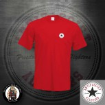 ANTIFASCIST ALLSTARS SMALL T-SHIRT S / ROT / SCHWARZ