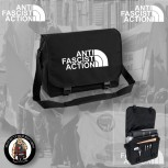 ANTIFASCIST ACTION MESSENGER BAG SCHWARZ / WEISS