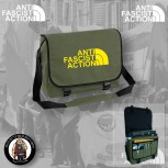 ANTIFASCIST ACTION MESSENGER BAG OLIVE / GELB