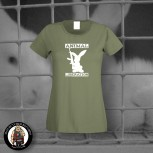 ANIMAL LIBERATION RABBIT GIRLIE XL / OLIVE