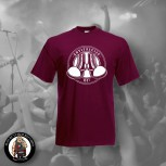 ANTIFASCIST OI! T-SHIRT XL / BORDEAUX ROT