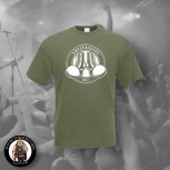 ANTIFASCIST OI! T-SHIRT L / OLIVE
