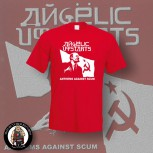 ANGELIC UPSTARTS ANTHEMS T-SHIRT L / ROT