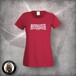 ANTIFASCISTA SIEMPRE OLD SCHOOL GIRLIE XL / ROT