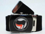ANTIFASCHISTISCHE AKTION BELT SCHWARZ/ROT