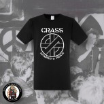 CRASS ANARCHY & PEACE T-SHIRT SCHWARZ / 5XL