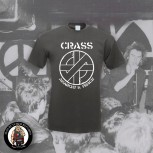 CRASS ANARCHY & PEACE T-SHIRT S / DUNKELGRAU