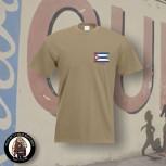 CUBA FLAG T-SHIRT S / BEIGE