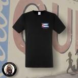 CUBA FLAG T-SHIRT SCHWARZ / S