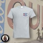 CUBA FLAG T-SHIRT M / GRAU