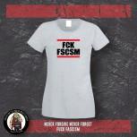 FUCK FASCISM GIRLIE XL / GRAU