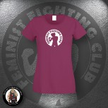 FEMINIST FIGHTING CLUB GIRLIE XL / BORDEAUX ROT